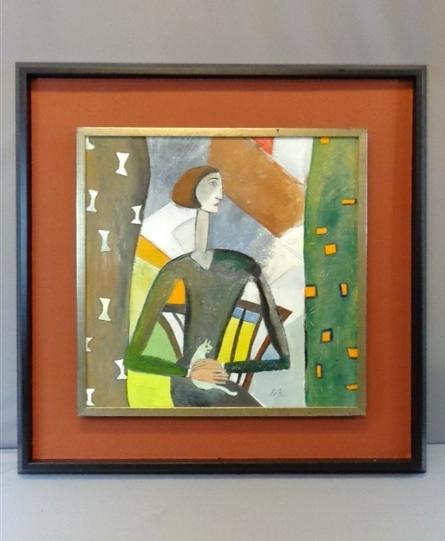 Apartment In Art Piece: HIMYM ROBIN COBIE SMULDERS SCREEN USED APARTMENT ART PIECE