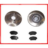 93 94 Explorer 4X4 WITH ABS (2) Front Brake 54005 Rotors & CD387 Ceramic Pads