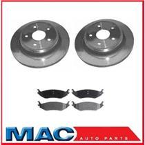 (2) 53006 Disc Brake Rotor, Rear Rotors With CD967 Ceramic Pads
