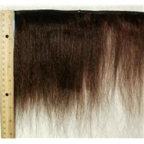 """mohair weft Brown 4 coarse textured 8 x 86"""" 24068 FP"""