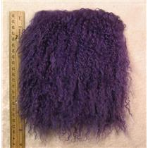 "4"" Violet  tibetan lambskin 3-5"" length doll hair  seam 24285"