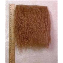"2"" sq light R brown tibetan lambskin no seam  24308"