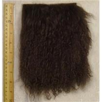 "3"" sq Deep brown tibetan lambskin seam wig 24316"