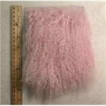 "3"" sq light pink Tibetan lambskin no seam wig 24345"