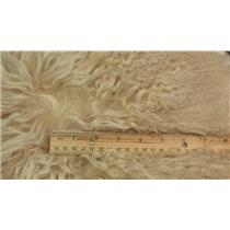 Blonde tibetan lamskin scrap sample size 1/10 oz 24361