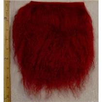 Carmine tibetan lamskin scrap sample size 1/10 oz 24362