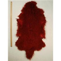 Half pelt Carmine red dark Tibetan lambskin  24556
