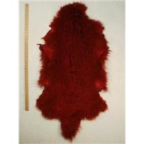Quarter pelt Carmine red dark Tibetan lambskin  24557