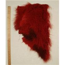 Quarter pelt Carmine red 2 tone Tibetan lambskin 24572