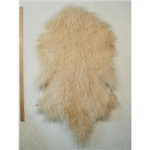 Half pelt Light golden blonde Y Tibetan lambskin 24612