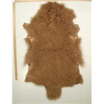 Qtr pelt  Dark blonde 014  long 4-5 1/2 Tibetan lambskin 24777