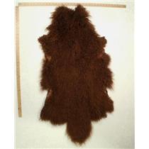 Qtr pelt Auburn brown A29 Tibetan lambskin 24775