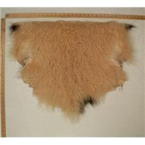 Half pelt Peach blonde with spot 018  Tibetan lambskin 24781