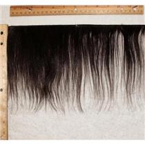 """Yak hair weft dark brown 2 straight 6 -8"""" x 37"""" 24961 QP"""