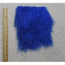 "7"" sq Cobalt blue Tibetian lambskin to make wig  no seam  25497"