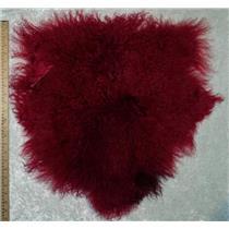 Half pelt Cherry red Tibetan lambskin  25103