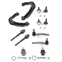 FRONT UPPER CONTROL ARMS W/ BALL JOINT UPPER & LOWER + TIE RODS + LINKS 10PC KIT
