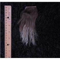brown with beige tips tibetan lamskin scrap sample size 25239