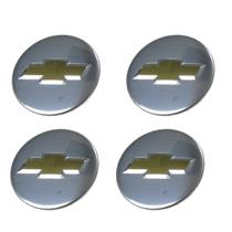 "New Factory OEM Chrome Chevy Center Caps 2 1/4"" 9594156 Set of 4 9597551"