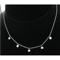 Kwiat Diamond Droplet String Diamond 0.81cts Necklace 18K WG Dangles New $3700