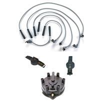 1996-1998 Mazda MPV Van 3.0L Ignition Spark Plug Wires + Distributor Cap & Rotor