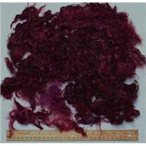 "1.9 oz plum violet 1% 1-5""  mohair scrap lot needle felt spin bright 25377"