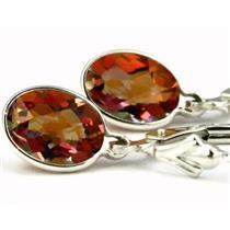 SE001, Twilight Fire Topaz 925 Sterling Silver Earrings