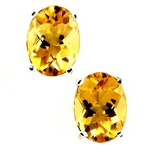 SE002, Citrine, 925 Sterling Silver Earrings