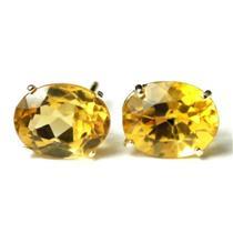 E102, Genuine Citrine, 14k Gold Earrings