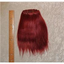 "mohair weft Coarse Dark Auburn red straight 6-8x65"" 25412 HP"