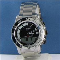 Tissot T0264201105100 Sea Touch Analog-Digital Black Dial Steel Watch New $1225