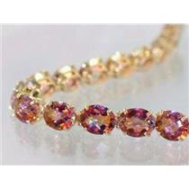 B003, Twilight Fire Topaz Gold Bracelet