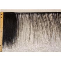 "Horse hair weft 2"" sample  Natural dark Brown straight 15 to 20"" x 2"" 25452"