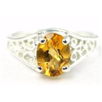 Citrine, 925 Sterling Silver Ring, SR005