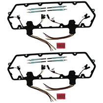 Austekk - K-6584-AOCx2 - Diesel Glow Plug Kit - Gaskets Harnesses 8 Plugs Pigtails