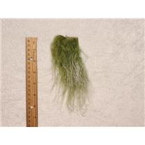 Bright green frosted Tibetan lamskin scrap /sample size 25457