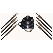 Austekk - K-12B533-AB - 8 Dual Core Glow Plug & Relay Solenoid