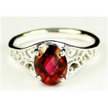 Crimson Fire Topaz, 925 Sterling Silver Ring, SR005