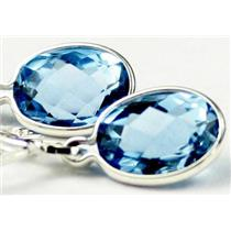 SE001, Swiss Blue Topaz, 925 Sterling Silver Earrings