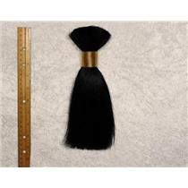 "Yak hair Bulk Black straight , theatrical wig making 7-8 ""  x 90-100 g 25466 FP"