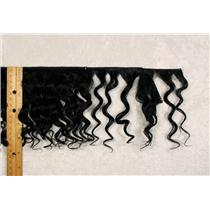 "Yak hair weft Black wavy fine yak  double row 6-8"" x 100 "" 25463 FP"