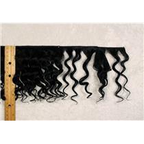 "Yak hair weft Black wavy fine yak  double row 6-8"" x 100 "" 25463 FP"