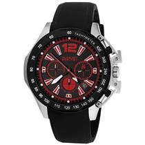 August Steiner AS8003R Chronograph GMT Strap Black Mens Watch