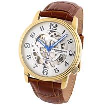 Stuhrling 107BG 3335T2 Delphi Oracle Auto Skeleton 23K Gold-Tone Men's Watch