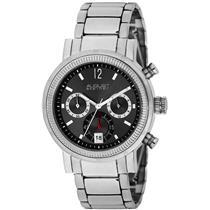 August Steiner AS8009BK Quartz Chronograph Stainless steel Mens Watch
