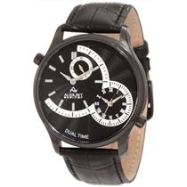 August Steiner AS8010BK Dual Time Black Mens Watch