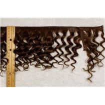"Yak hair weft Brown 6  wavy fine yak  double row 6-8"" x 50 "" 25485 HP"