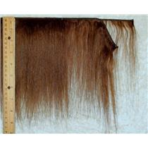 "Yak hair weft Brown 6  straight fine yak  double row 6-8"" x  25"" 25489 QP"