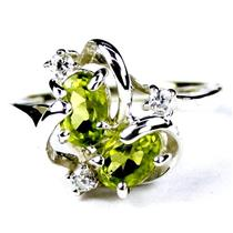 SR016, Peridot, 925 Sterling Silver Ring