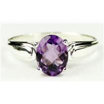 SR058, Amethyst, 925 Sterling Silver Ring